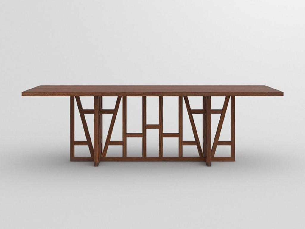 Esstisch Massivholz   Fachwerk