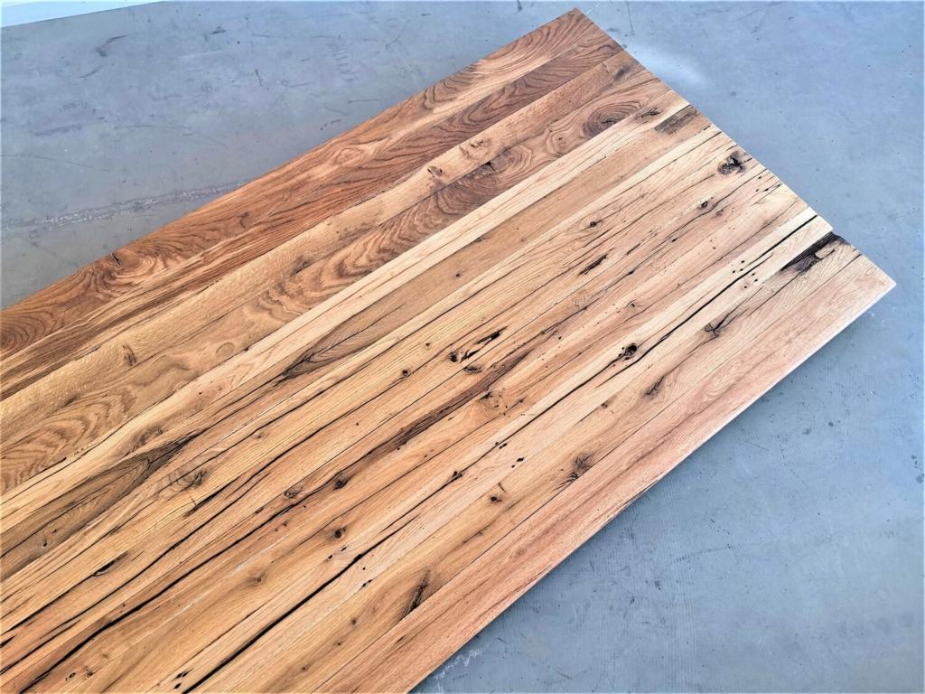 Eiche Tischplatte aus Balken