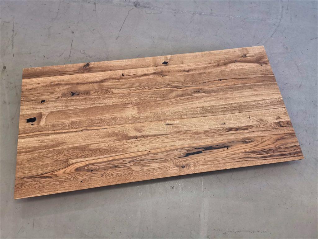 Eiche Tischplatte mit Schweizer Kante