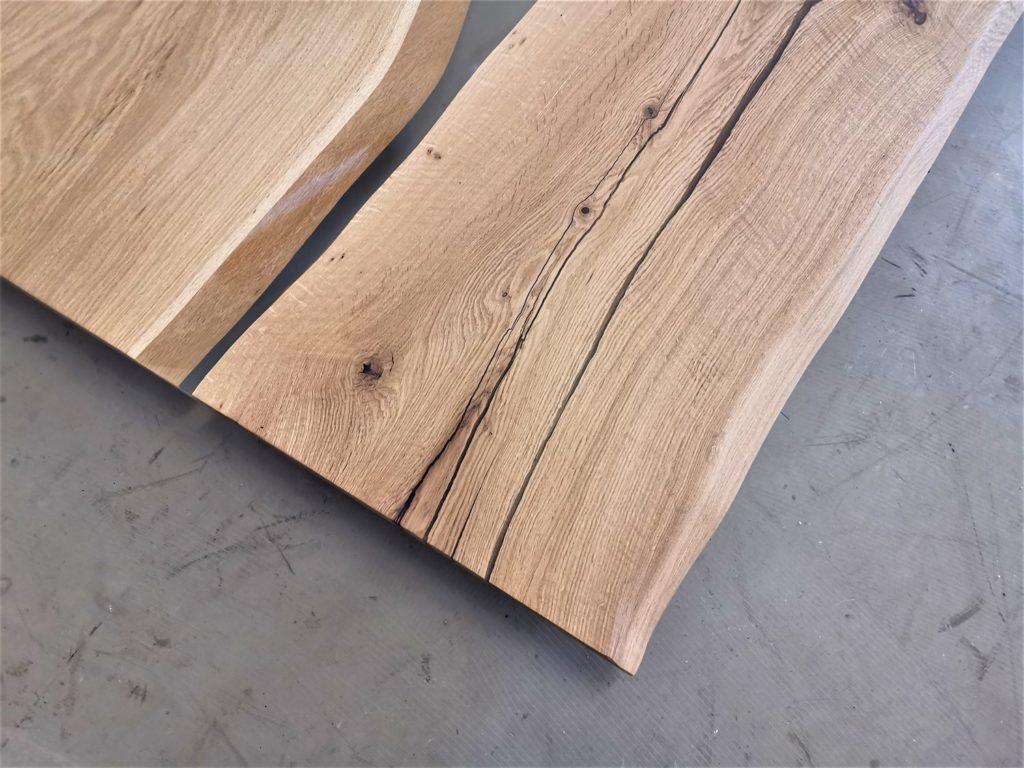 Eiche Tischplatte mit Baumkante   Epoxi