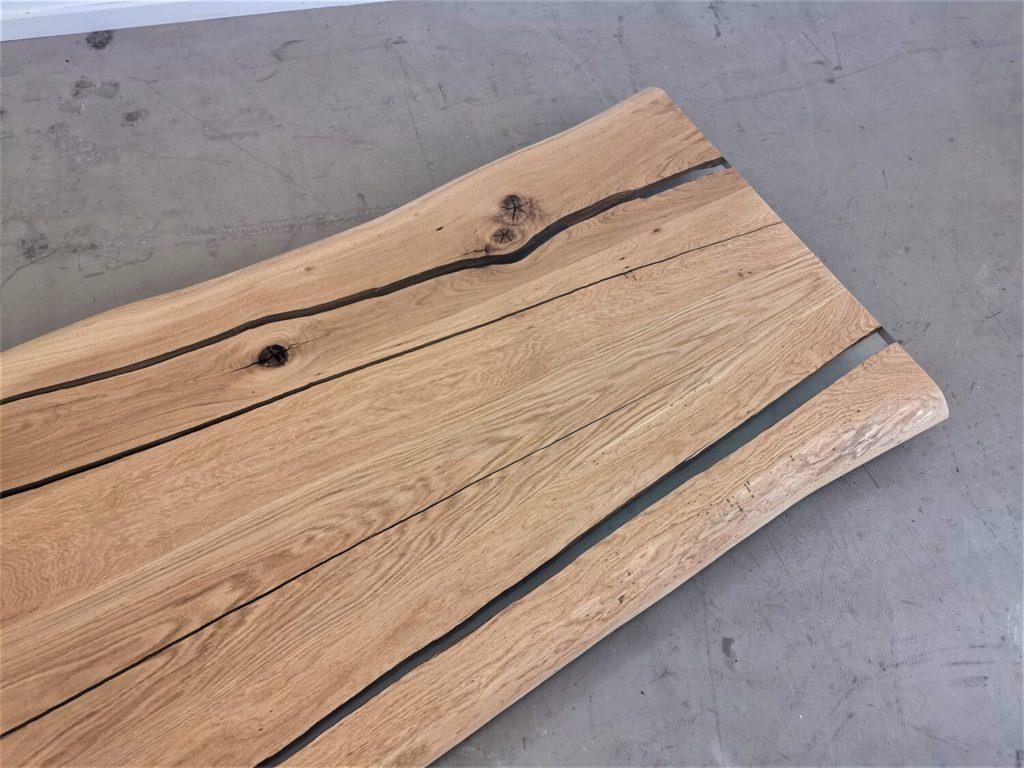 Eiche Tischplatte mit Baumkante | Epoxi